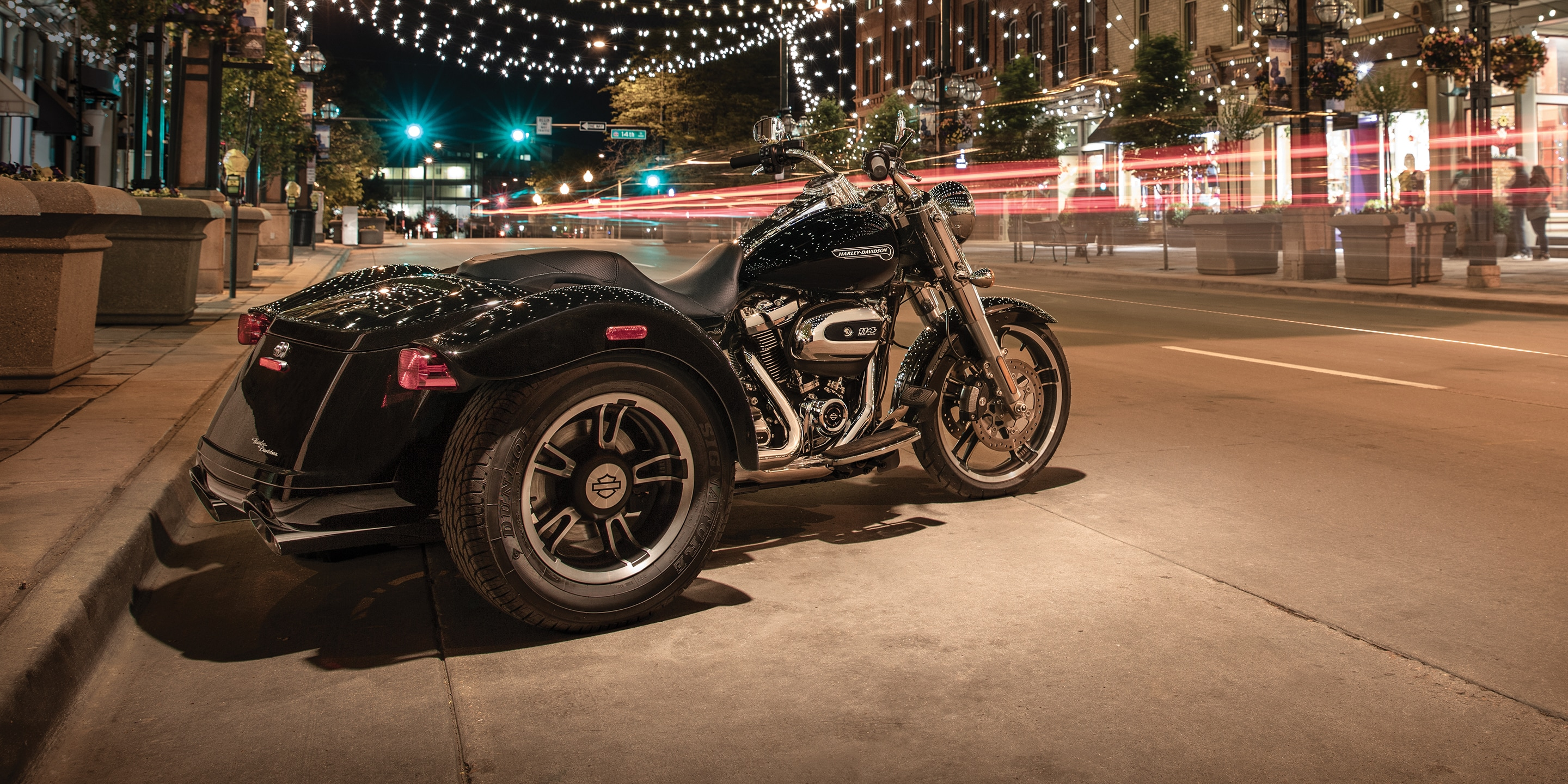2019 Freewheeler H-D Motorcycle Parked On a street